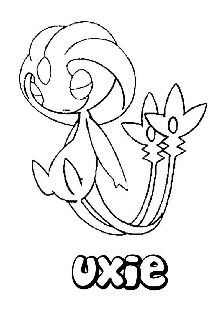 pokemon coloring pages servine moveset | Desenhos para colorir de desenho do pokémon uxie para ...