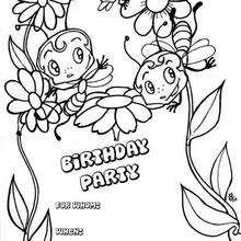Convite de aniversário para imprimir : com abelhas