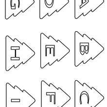 Letras Natalinas : da letra A a letra I