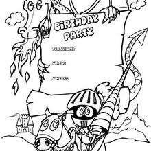 Desenhos Para Colorir De Convite De Aniversario Para Imprimir