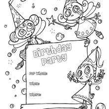 Desenhos Para Colorir De Convite De Aniversario Fadas Pt