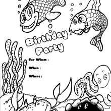 Convite para festa de aniversário : peixes