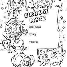 Desenhos Para Colorir De Convite Para Festa De Aniversario