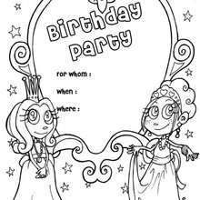 Carnaval, Convite de aniversário : Princesa