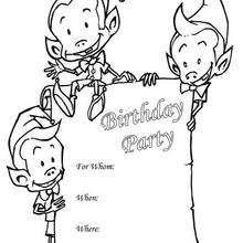 Convite de aniversário : duende