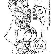 Desenho do carro do Babar para colorir