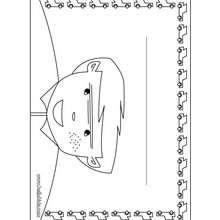 amor, Placa de quarto de menino para colorir e imprimir