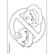 Placa de quarto proibindo pais de entrarem