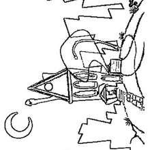 Desenho da casa dos Space Goofs para pintar