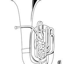 Desenho de uma trombeta para colorir