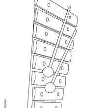 Desenho de um Xilofone para colorir
