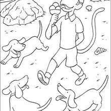 Desenho do Zéfiro comendo um sorvete para colorir