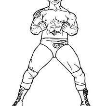 wwe, Desenho do Dave Batista, ex-lutador norte-americano de wrestling para colorir