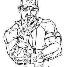 wwe, Desenho do  John Cena, lutador de wrestling profissional para colorir