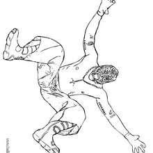 wwe, Desenho do lutador Rey mysterio para colorir