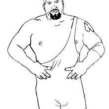 wwe, Desenho de um lutador de Wrestling para colorir