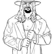 wwe, Desenho do lutador de Wrestling, undertaker para colorir