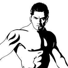 wwe, Desenho do lutador Batista para colorir