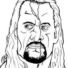wwe, Desenho do Undertaker para colorir