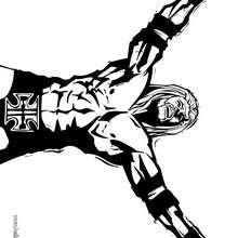 wwe, Desenho do Triple H, lutador de wrestling para colorir