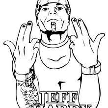wwe, Desenho do lutador Jeff Hardy para colorir
