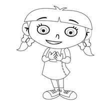 Linda Annie - Mini Einstens para colorir