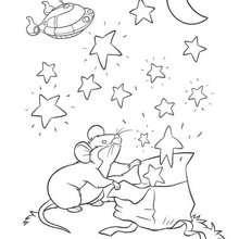Desenho do ratinho dos Mini Einstens  para colorir