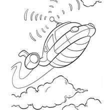 Desenho do foguete dos Mini Einstens para colorir