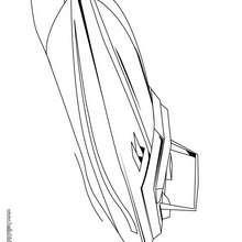 barco, Desenho de uma lancha para colorir