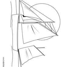 barco, Desenho de um iate para colorir