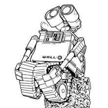 Desenho do WALL-E sonhando para colorir