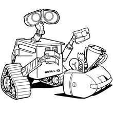 Desenho do WALL-E para colorir
