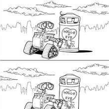 Desenho do WALL-E apaixonado para colorir