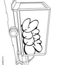 Desenho para colorir de um Caminhão de entregas