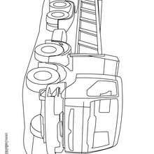 Desenho de um Caminhão de Entulhos para colorir