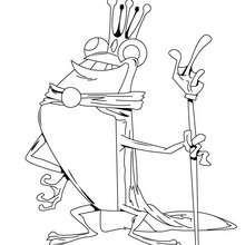 Desenho do rei dos sapos para colorir