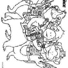 Desenho dos agentes secretos da Força-G para colorir