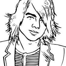 Retrato do Joe Jonas para colorir
