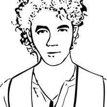 Retrato do Kevin Jonas para colorir