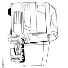 Desenho de um caminhão de transporte para colorir