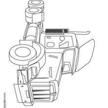 Desenho de um caminhão cegonha para colorir