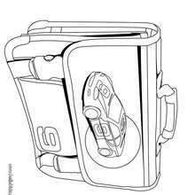 Desenho de uma mochila de menino para colorir