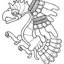 Desenho de uma Águia para colorir