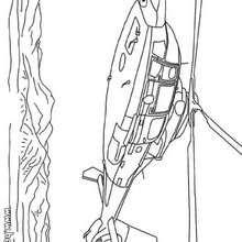 Desenho de um Helicóptero para colorir