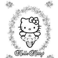 Desenhos Para Colorir De Desenho Da Hello Kitty Comendo Pipoca Com