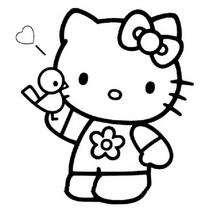 Desenhos Para Colorir De O Retrato Da Hello Kitty Para Colorir Pt