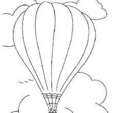 Desenho de um Balão de ar quente para colorir