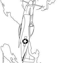 Desenho de um Avião de intercepção para colorir