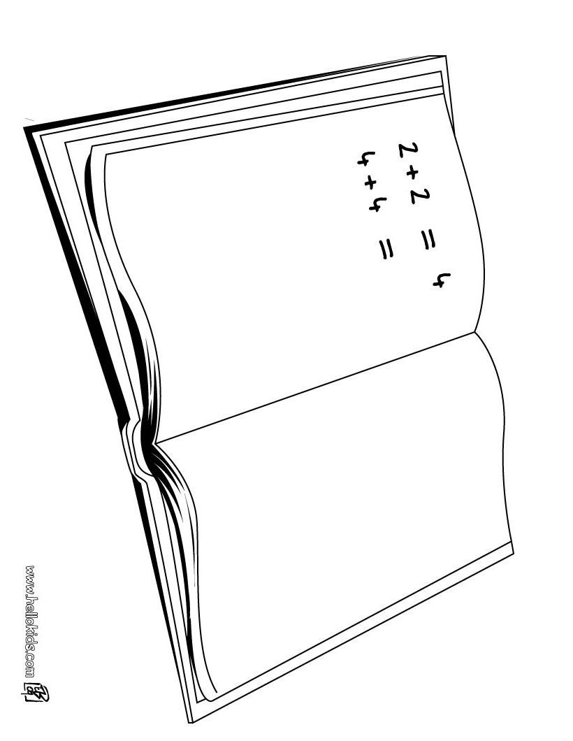 Desenhos Para Colorir De Desenho De Um Caderno De Matematica Para