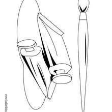 Desenho de utensílios para pintar